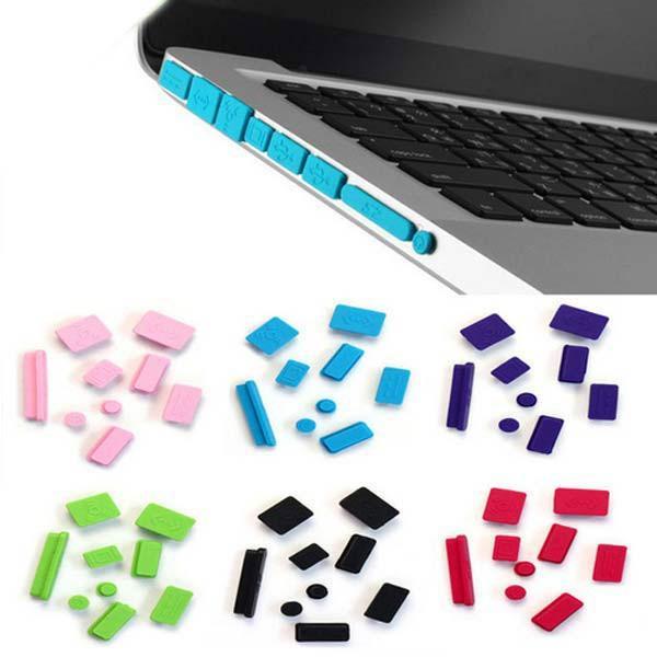 """Nút bịt bụi silicon cho Macbook Pro, Air 11"""" 13"""" 15"""" (tặng kèm chống gãy đầu dây sạc )"""