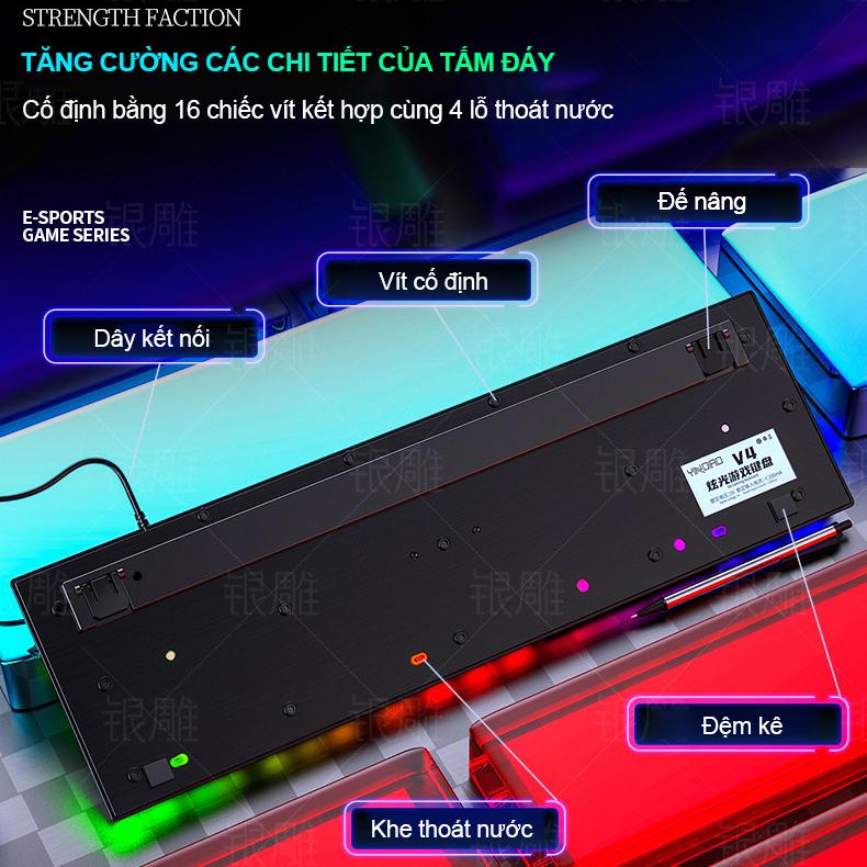 Bàn Phím Máy Tính Gaming RGB SIDOTECH V4 Dòng Bàn Phím Có Dây Chơi Game Chuyên Nghiệp Chế Độ LED RGB Cầu Vồng, Chống Nước, Gõ Phím Nhanh Chính Xác Thuộc Loại Bàn Phím Máy Tính Văn Phòng Gaming Esport Giá Rẻ - Hàng Chính Hãng
