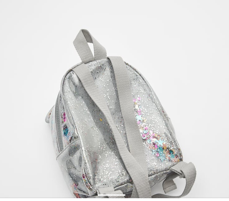 balo trẻ em kid màu bạc siêu xinh kim tuyến lung linh za