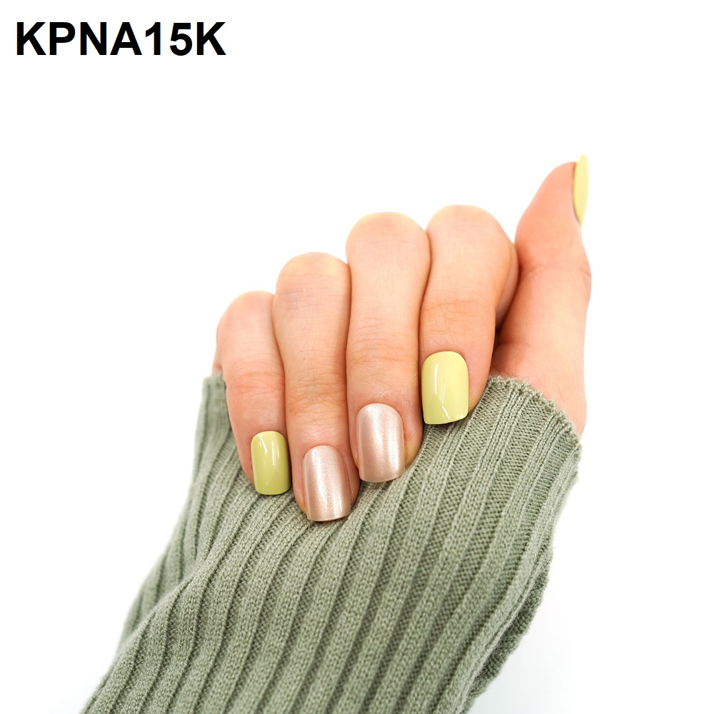 Bộ 30 Móng Tay Gel Dán Press & Go Kiss New York Nail Box - Pear Green (KPNA15KA)