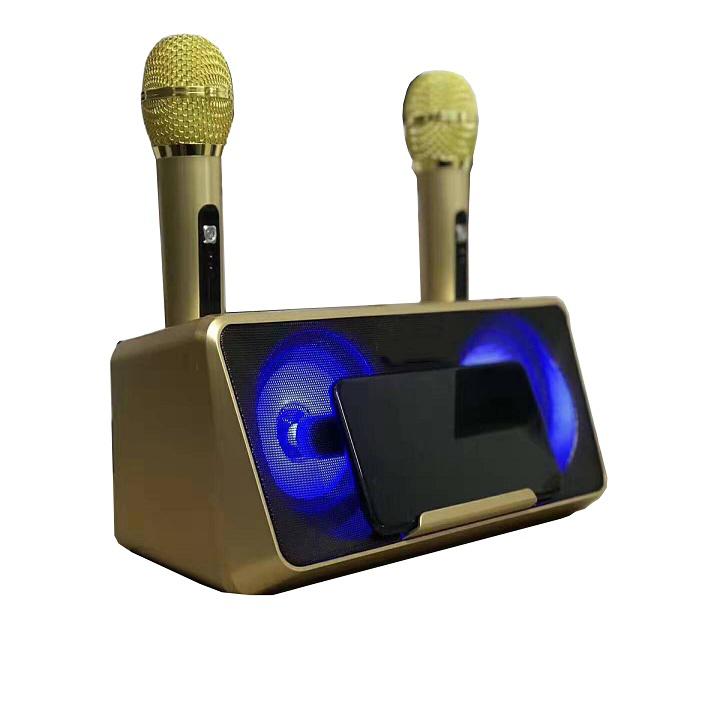 Loa nghe nhạc kèm đôi micro SDRD-301 loa mic karaoke di động cao cấp, kết nối bluetooth không dây chạy thẻ nhớ, USB,... thiết bị giải trí đa năng tại nhà ( giao ngẫu nhiên)