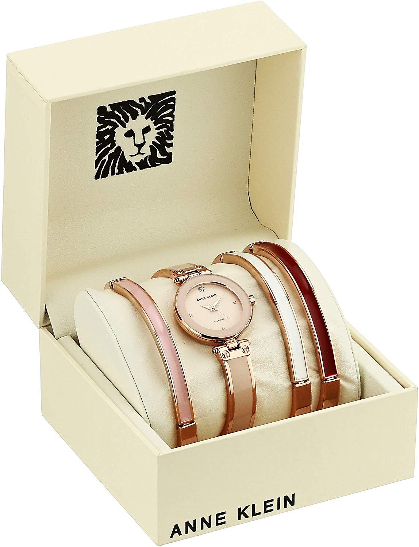 Bộ đồng hồ và vòng tay ANNE KLEIN 1980BHST