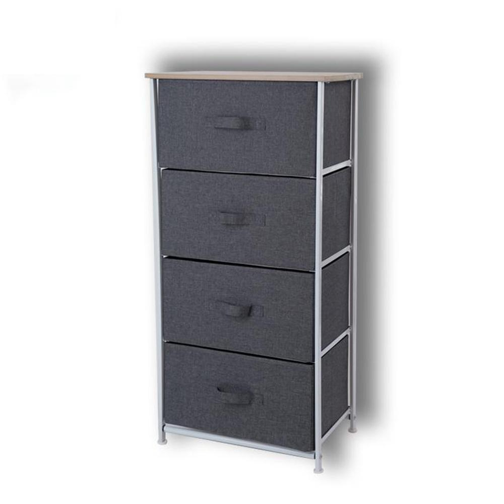 Tủ đựng quần áo đa năng 4 ngăn vải Oxfort 600D, chống kẹt tay kiểu Mỹ