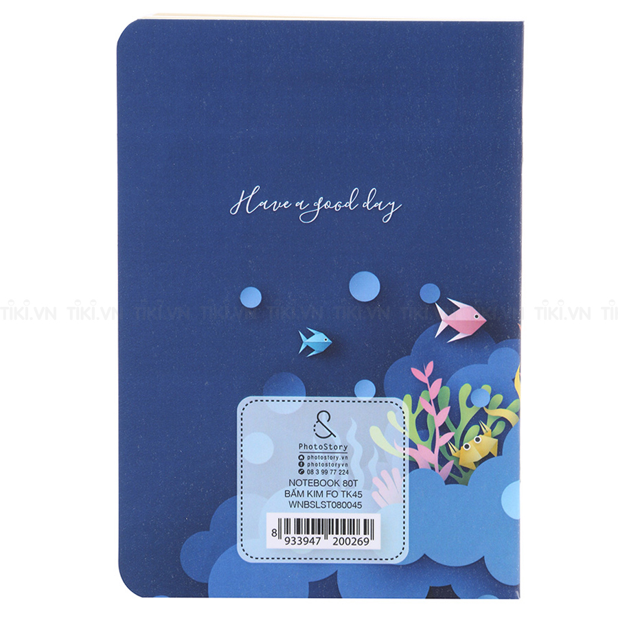 Notebook PhotoStory 80 Trang Bìa For Tk 45 (10.5 x 15.5cm)