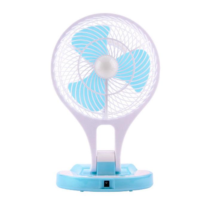 Quạt tích điện mini Fan kèm đèn LED siêu sáng