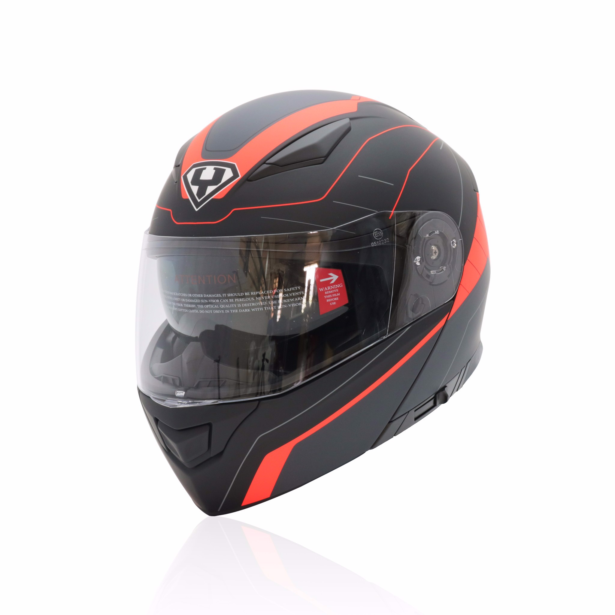 Mũ bảo hiểm fullface lật hàm hai kính Yohe 950 chính hãng