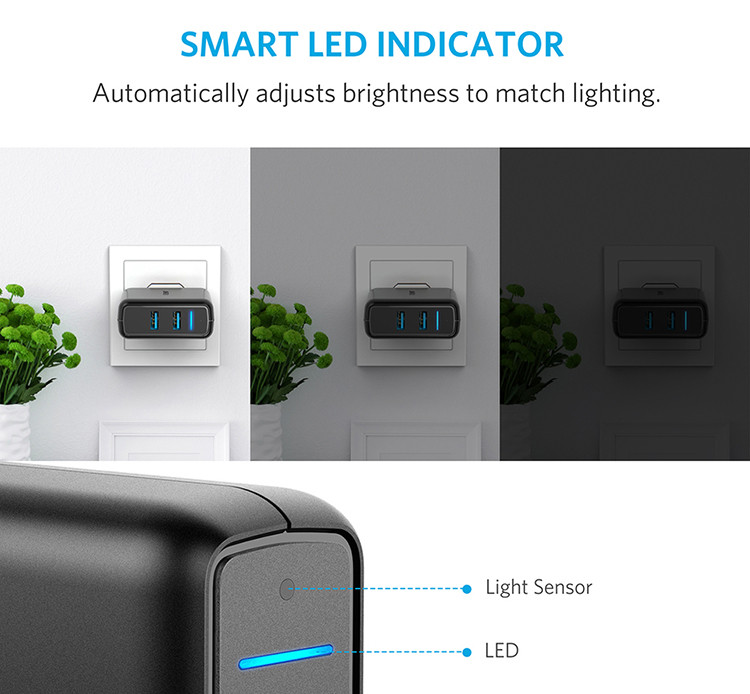 Adapter Sạc Anker PowerPort Speed 2 Wall Charger Quick Charge 3.0 A2025111 - Đen - Hàng Chính Hãng
