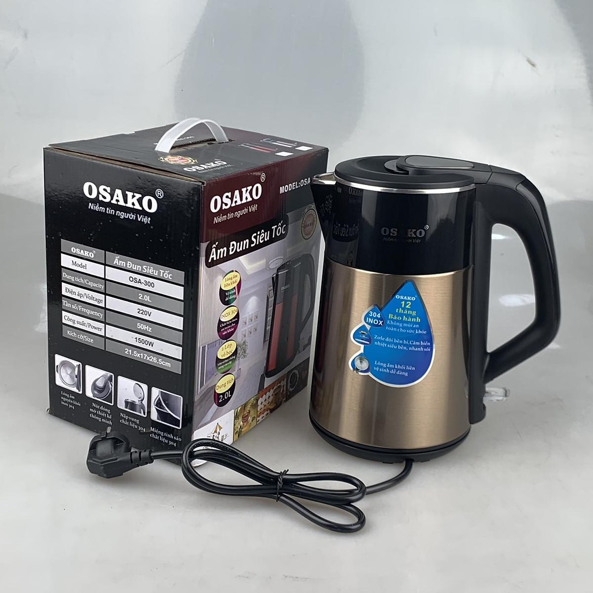 [Hàng chính hãng]Ấm siêu tốc, bình đun siêu tốc 2L, công suất 1500w OSAKO OSA200/300 ( chọn phân loại), hình ảnh tự chụp
