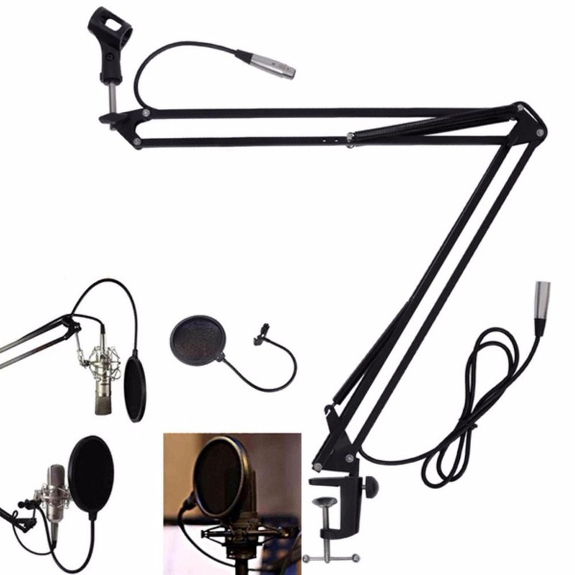 Giá đỡ Micro thu âm kẹp bàn phục vụ livestream - hội thảo - thu âm tại nhà - NDP-4550-GDMIC