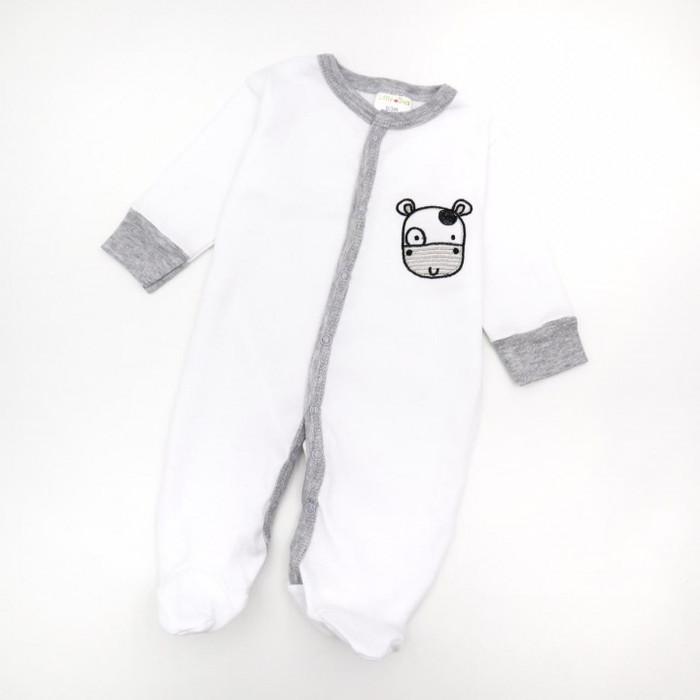 Bộ 3 áo liền quần Little Duck Happy Sleepsuit liền tất cho bé 0-9 tháng