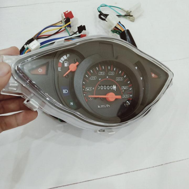 Đồng hồ cơ xe Wave A-S100-RS100 - A402 Có Báo xăng, Báo Quãng Đường Km, Báo Tốc Độ dễ dàng lắp đặt