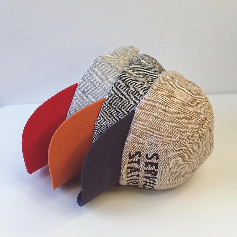 Mũ lưỡi trai thêu chữ phong cách Hàn Quốc cho bé - giao màu ngẫu nhiên