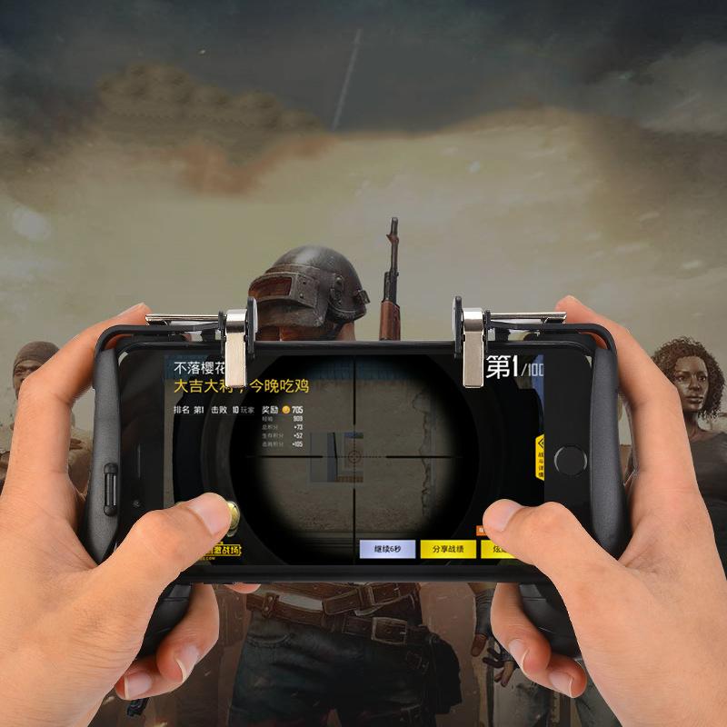 Tay Cầm Game Nút Chơi Game 4 Trong 1 Có Nút Bắn Cho Điện Thoại Pubg, Ros, Free Fire Controller