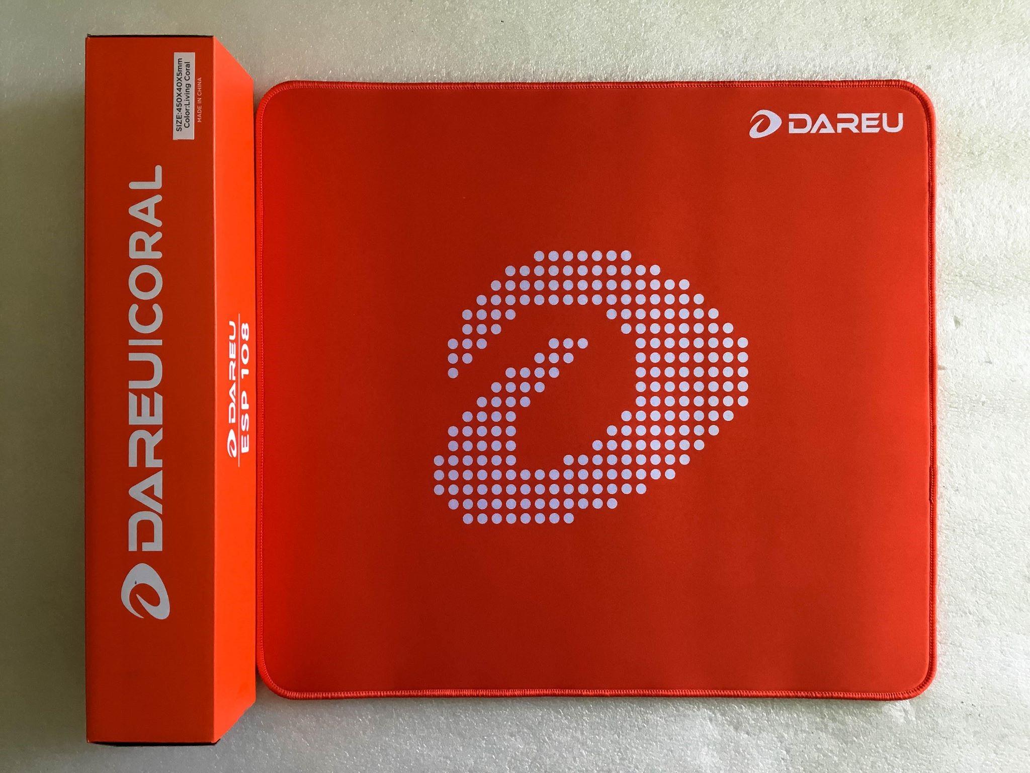 Bàn di chuột DAREU ESP108 CORAL (450 x 400 x 5mm) - Hàng chính hãng