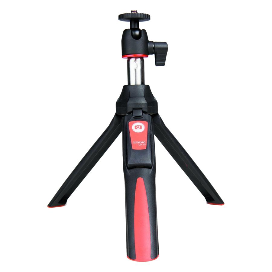 Gậy Selfie Chụp Hình Tự Sướng Tích Hợp Tripod Mefoto MK10 Hỗ Trợ Bluetooth 3.0 Đỏ - Hàng Chính Hãng