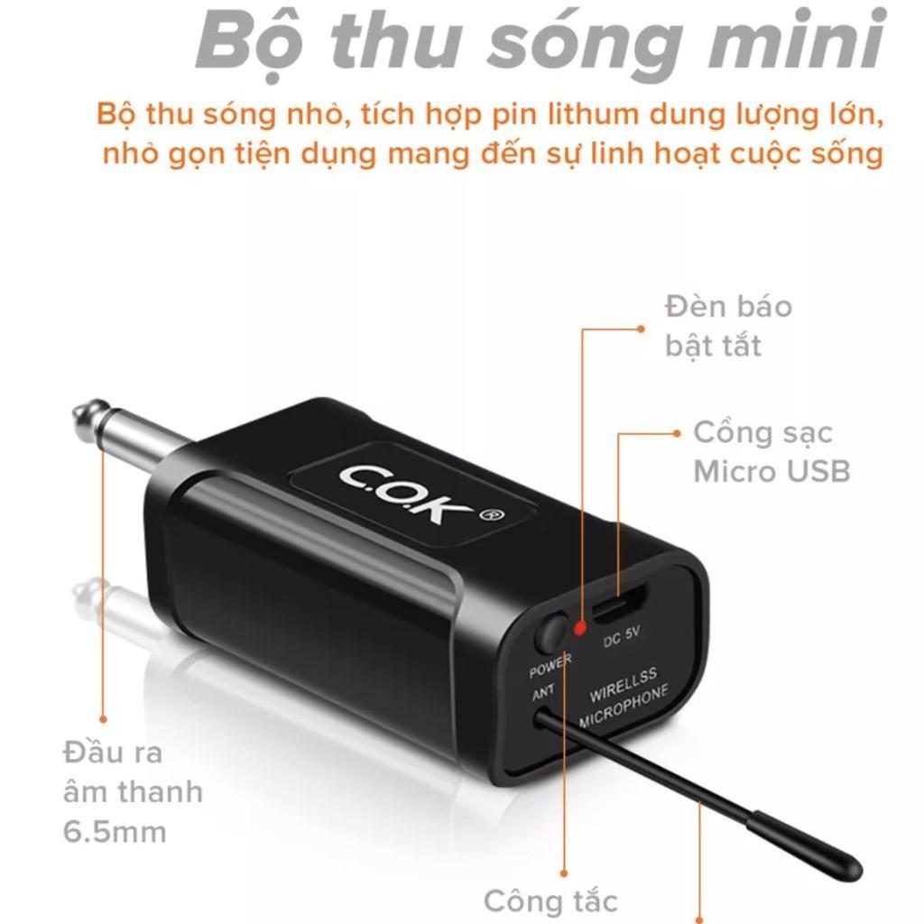 Micro Không Dây COK ST-123 (2 mic) - CHÍNH HÃNG - BH 12 tháng - Mích Chuyên Dành Cho Mọi Loa Kéo Và Âm Ly - Lỗi Đổi Mới