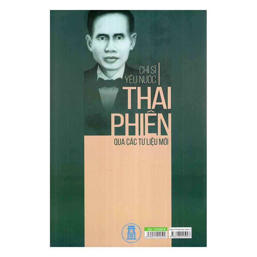 Chí Sĩ Yêu Nước Thái Phiên Qua Các Tư Liệu Mới