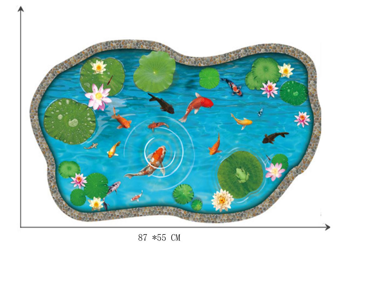 Decal dán tường hồ cá thành đá xh9288