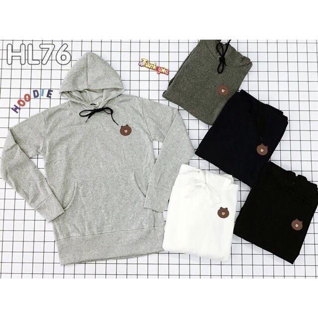 Áo hoodie gấu brown/ cony ( trắng, xám, đen, hông, đỏ tuoi, đỏ đô)