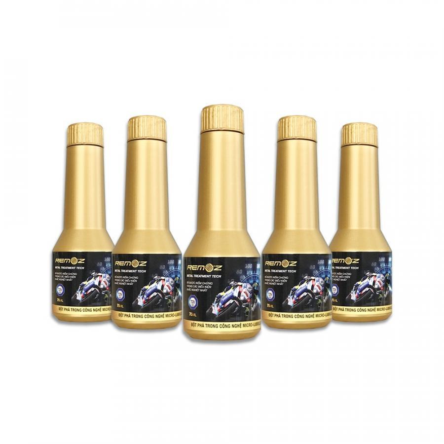 Combo 5 chai Nano Phục hồi và bảo vệ động cơ Remoz 75ml dùng cho xe máy