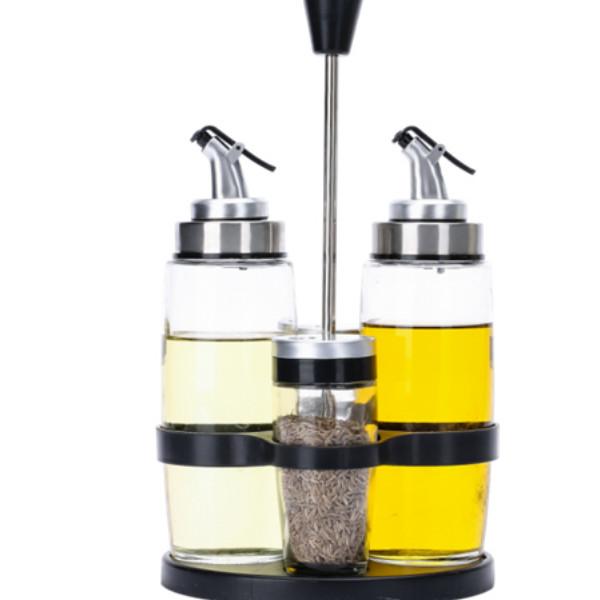 Bộ bình đựng dầu ăn và gia vị bằng thủy tinh cao cấp - 86191