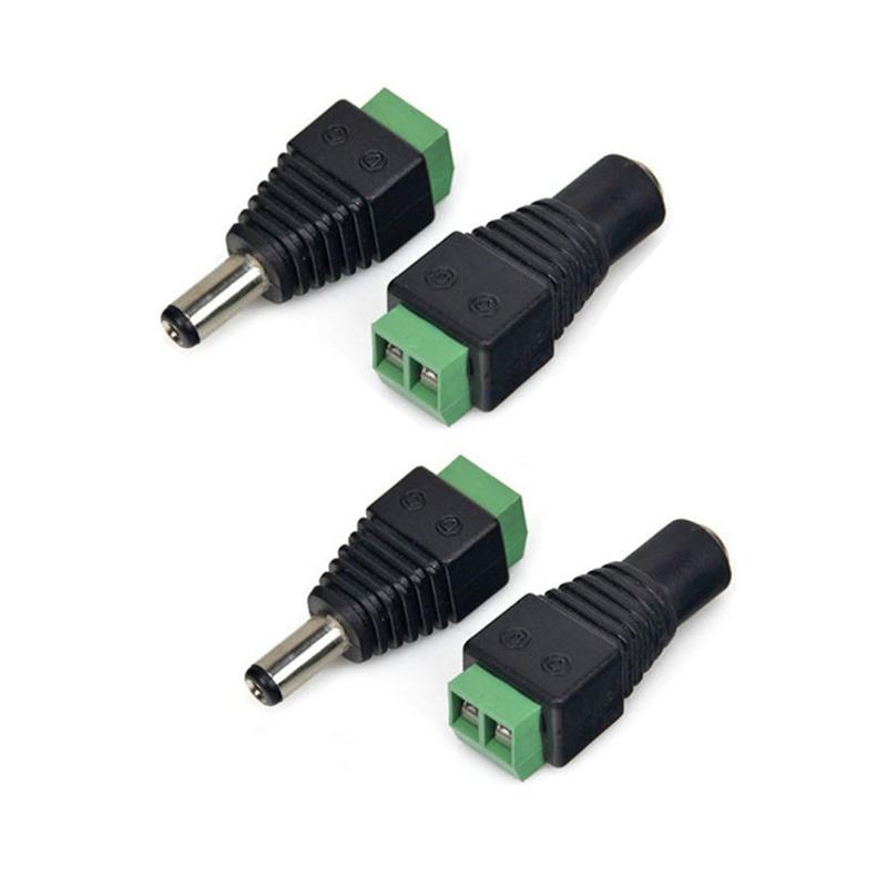 Bộ 4 chiếc Jack nối nguồn 5.5x2.1mm ( 2 cái - 2 đực )