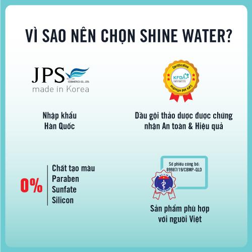 [ gội xả 2 in 1] Shine Water shampoo (Hộp 10 gói)  - Giúp tóc siêu mềm mượt, phục hồi tóc, kích thích mọc tóc, cấp ẩm cho tóc / THESCALAPY 100ML