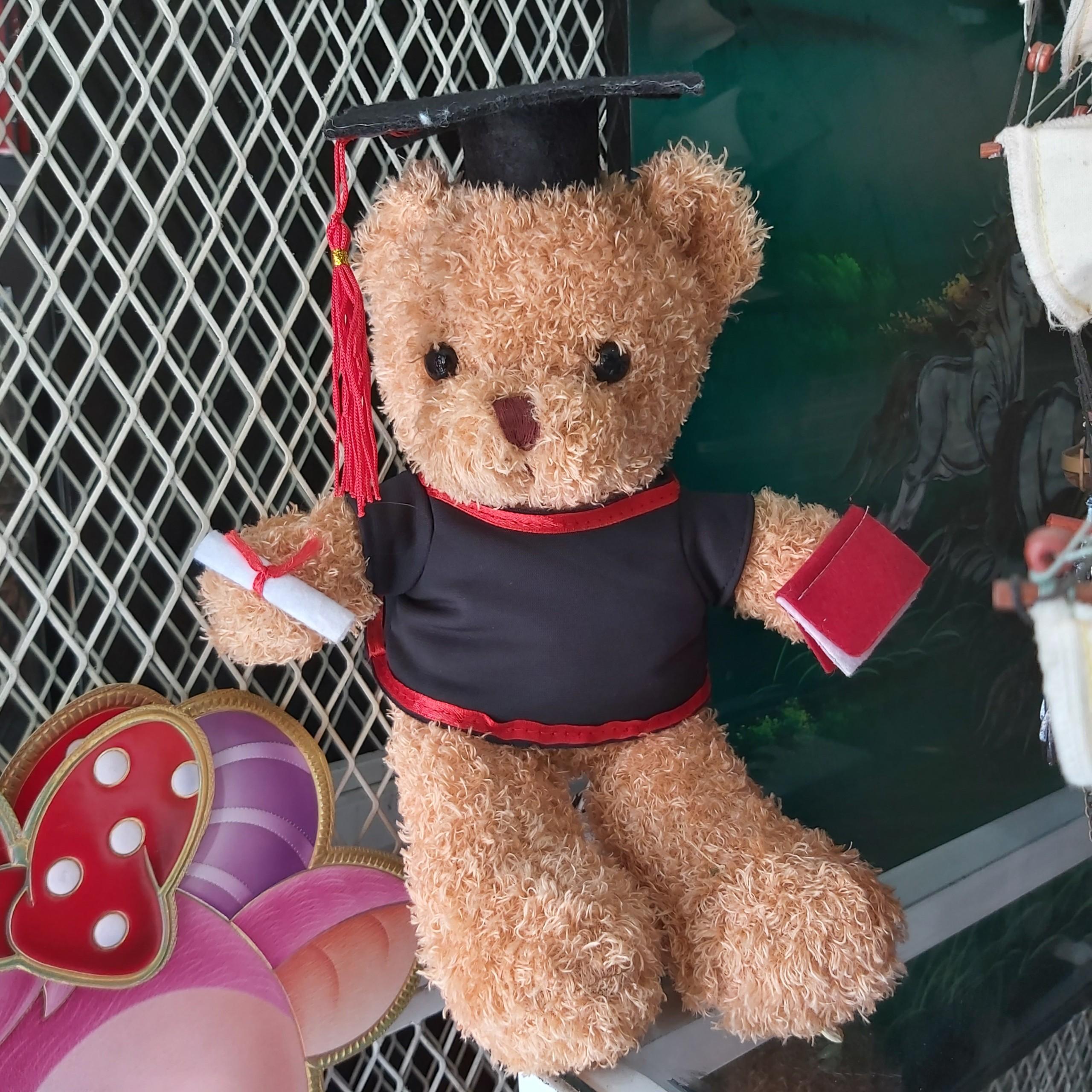Gấu nâu tốt nghiệp-qua tặng tốt nghiệp.gói quà miển phí QTN-GBL01