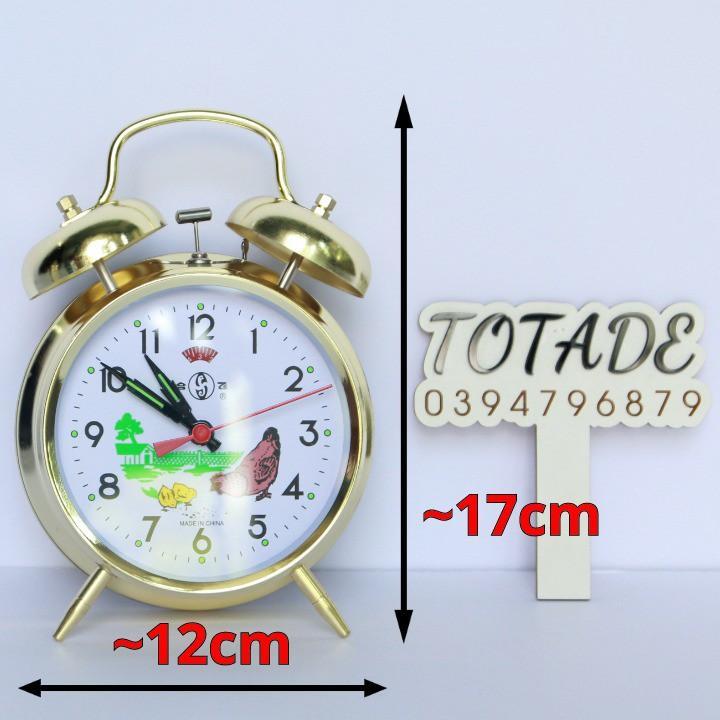 Đồng hồ dây cót con gà mổ thóc - Size đại- Vỏ kim loại mặt kính - Không dùng pin - GCL0003