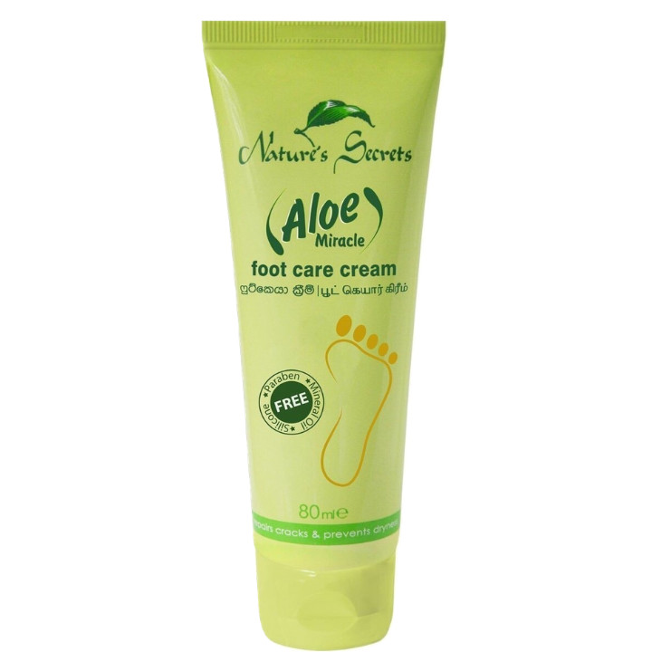 Kem hỗ trợ trị nứt gót chân Aloe Miracle Foot Care Cream 80ml