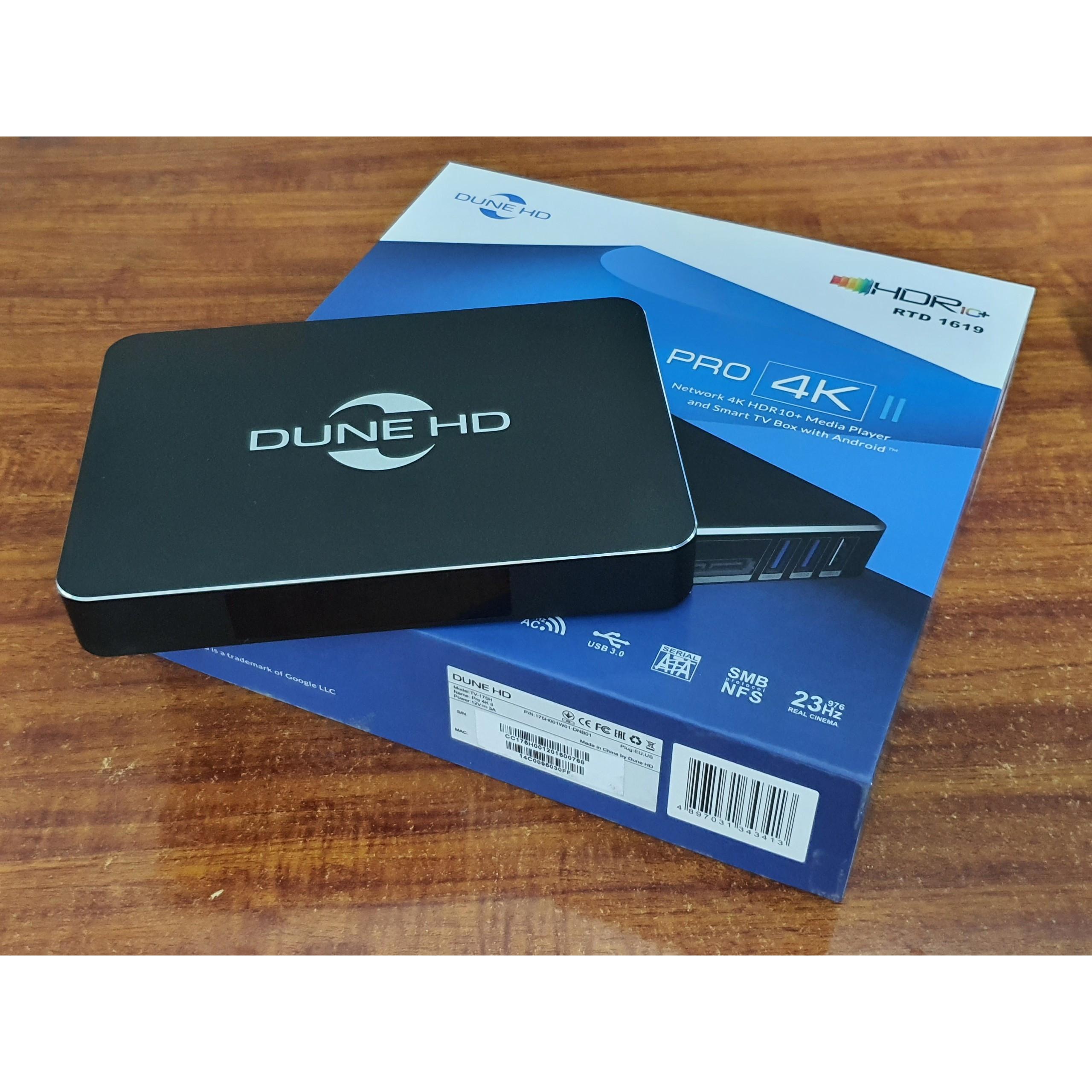 Đầu phát Dune HD Pro 4K II phát 4Kp60,YouTube 4K HDR, BD 4K menu, BD3D-Hàng Chính hãng