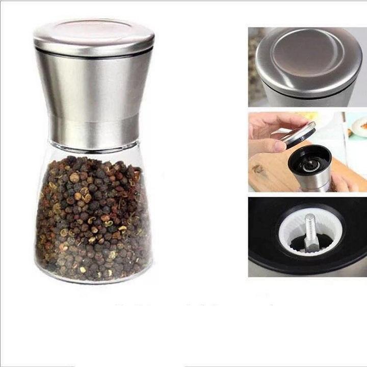 Lọ dụng cụ xay muối tiêu inox tiêu chuẩn 5 sao