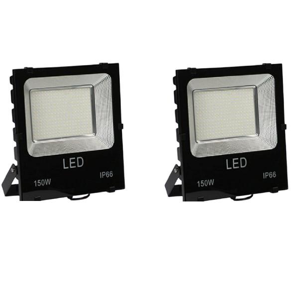 Bộ 2 đèn Led pha chíp dán 150W