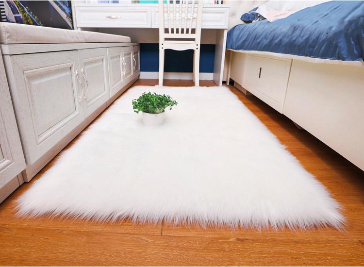 Thảm lông trắng trải sàn siêu mượt dành cho trang trí nhà- thảm chụp ảnh