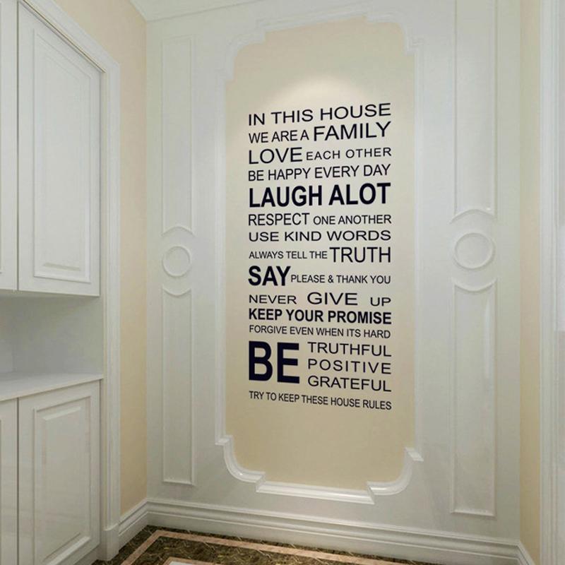 Decal dán tường chữ trắng đen