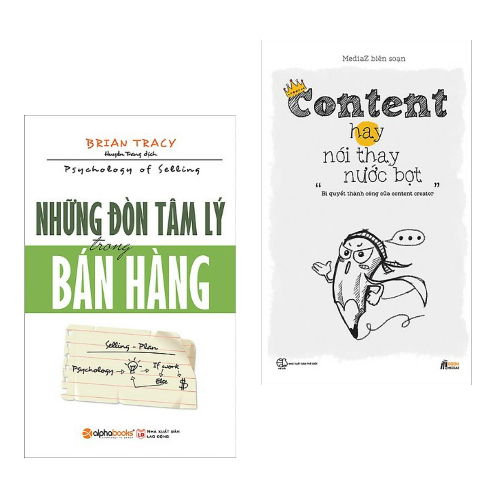 Combo Tuyệt Chiêu Marketing Đỉnh Cao: Những Đòn Tâm Lý Trong Bán Hàng + Content Hay Nói Thay Nước Bọt (Tặng kèm Bookmark Happy Life)