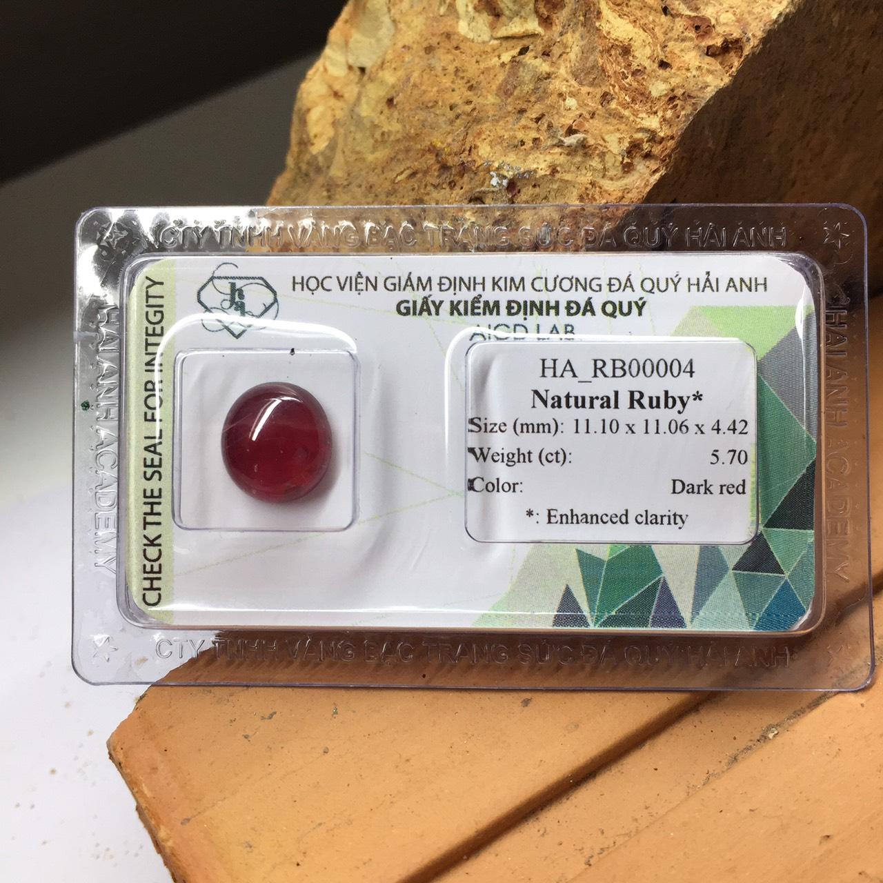 Viên đá Ruby thiên nhiên_HA-RB00004