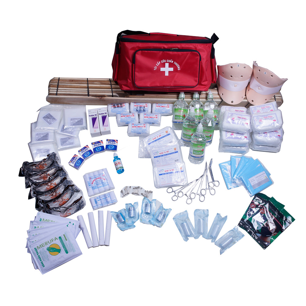 Túi Sơ cấp túi y tế cứu bộ C màu đen,túi Cấp Cứu  theo Thông Tư không kèm nẹp