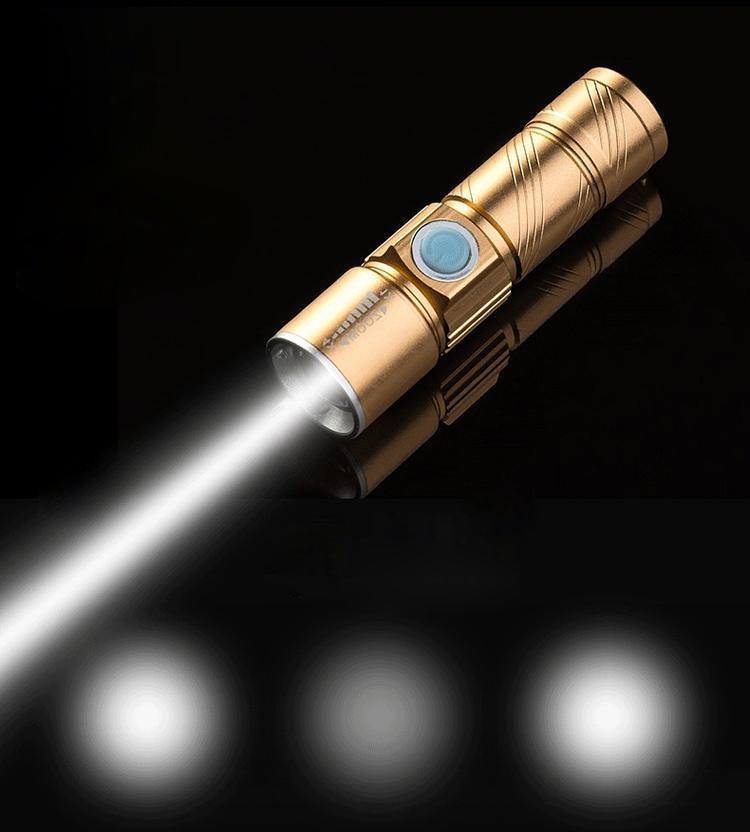 Đèn Pin Siêu Sáng Q5 Sạc USB Thiết Kế Nhỏ Gọn, Đẹp Mắt