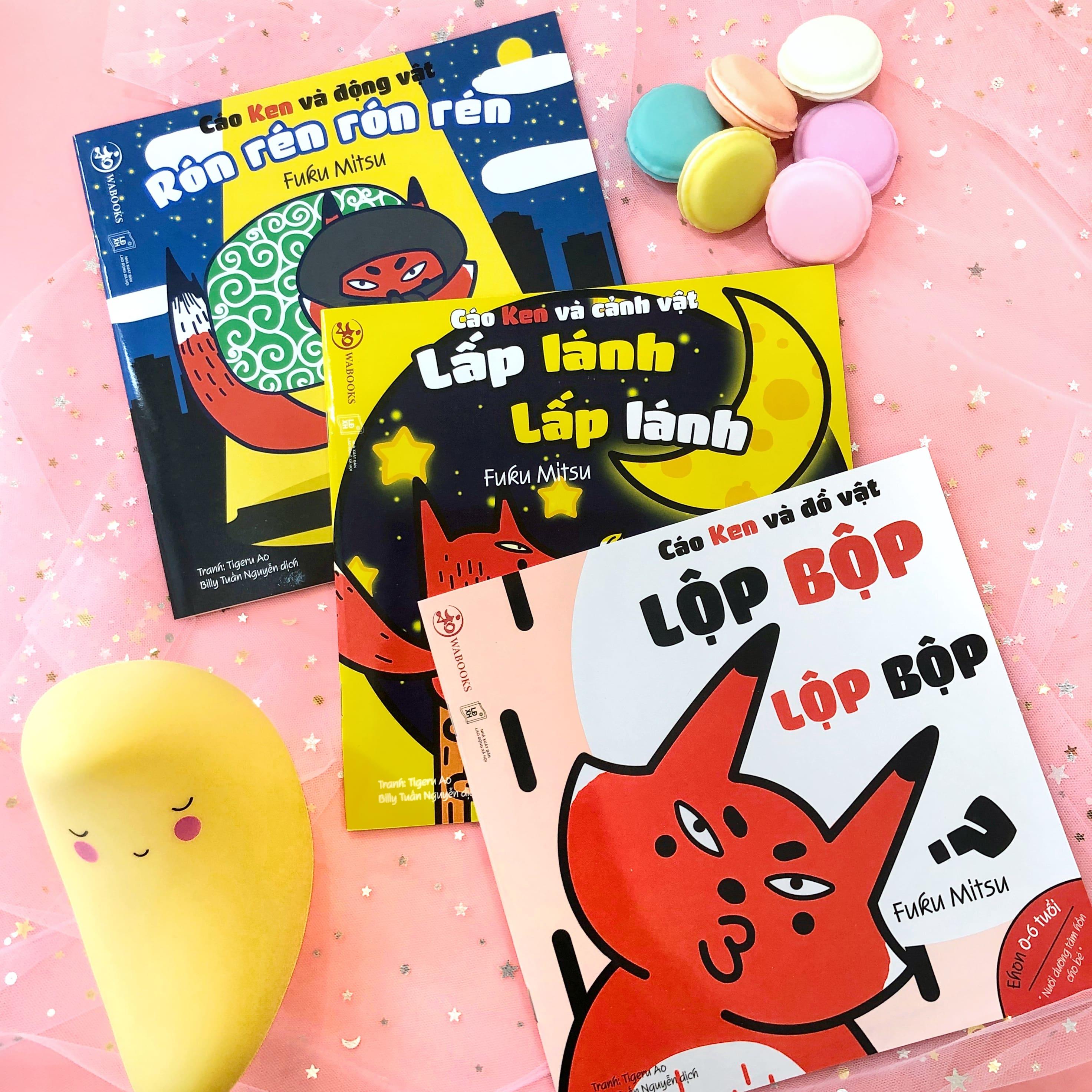Set 3 cuốn Ehon Chơi cùng cáo Ken - Ehon Nhật Bản cho bé 0-6 tuổi phát triển ngôn ngữ