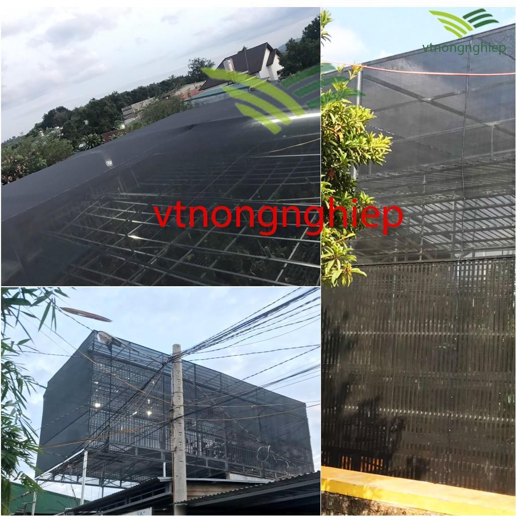 1m Lưới che nắng dệt kim Đài Loan, khổ rộng 6m, che 60%- 70% ánh nắng, dùng cho vườn lan, cây cảnh