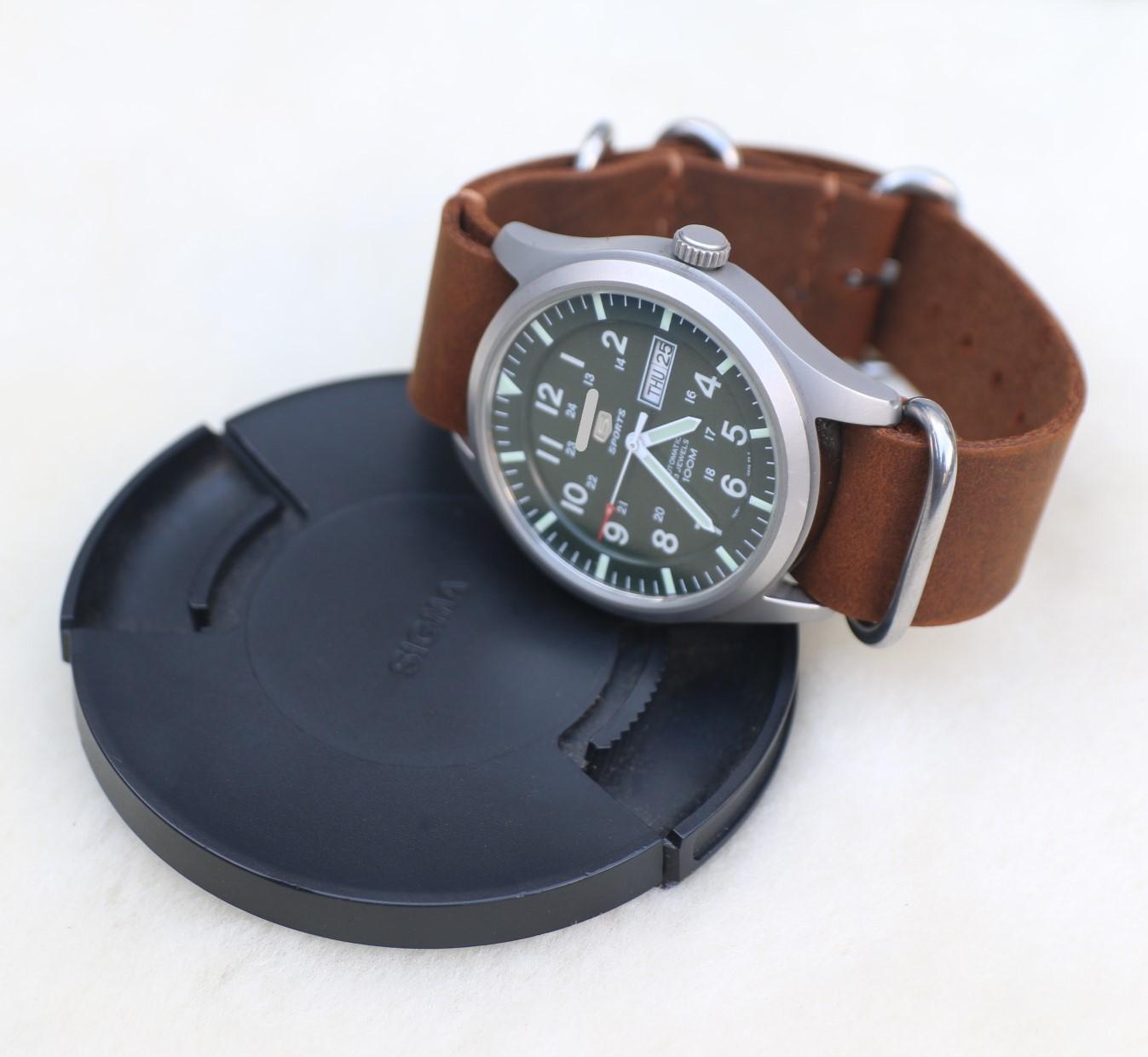 Dây đồng hồ NATO (dây Zulu) da sáp ngựa handmade