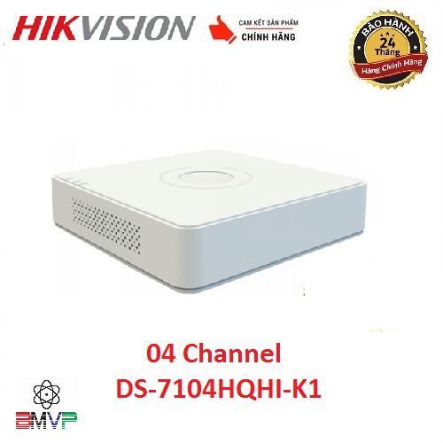 Đầu ghi hình 4 kênh Turbo HD 4.0 Hikvision DS-7104HQHI-K1 - Hàng chính hãng