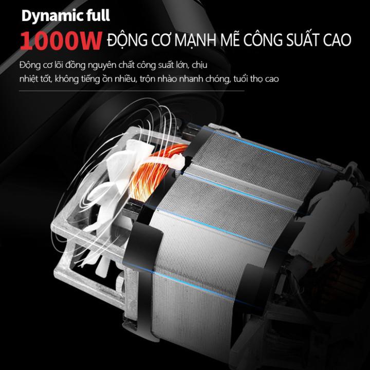 Máy trộn bột, đánh trứng nhãn hiệu DSP KM3030 công suất 1000W - Màu Đen - Hàng Nhập Khẩu
