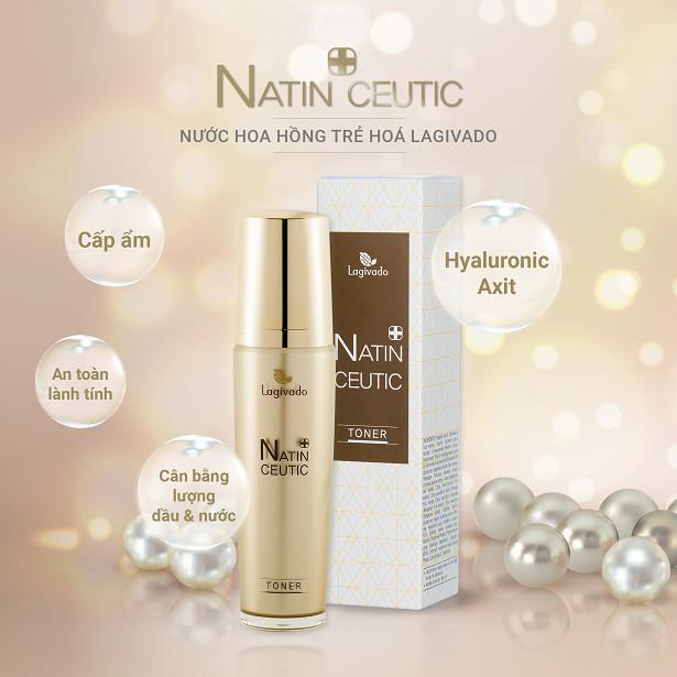Tinh chất serum HÀN QUỐC giúp trắng sáng da mặt, giảm nám tàn nhang LAGIVADO NATIN CEUTIC SERUM 50ml