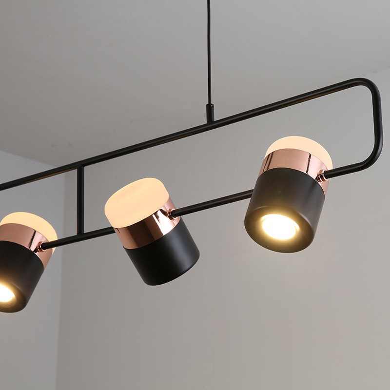 Đèn thả khung 3 đèn tích hợp led thả trang trí bàn ăn , quầy bar