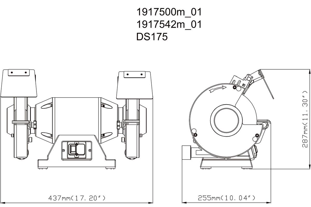 Máy mài để bàn METABO DS 175 (220-240 V / 50 Hz)