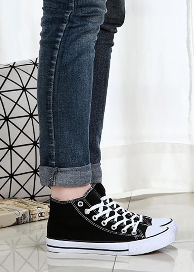 Giày Classic Nam Cổ Cao Màu Đen Sp01 - Đen