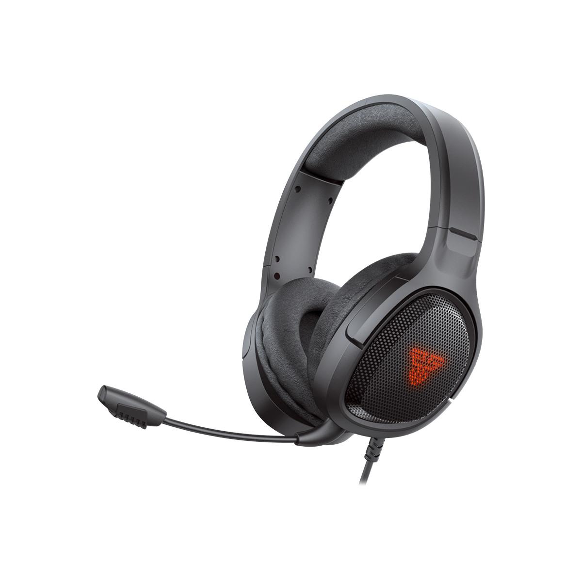 Tai nghe Gaming chụp tai có dây Fantech VIBE MH85 chuyên Game Console PS4, PS5... Jack 3.5mm kèm dây chuyển dùng cho PC Mic chống ồn - Hàng chính hãng