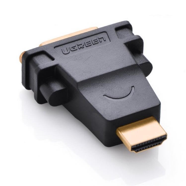 Cục Chuyển Đổi  HDMI M To DVI ( 24+ 5) To Adapter - Chính Hãng Ugreen